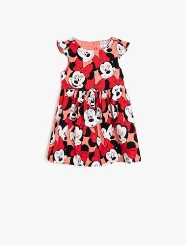 Koton Kids Minnie By Koton Elbise Kırmızı